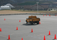 small dump truck driving training