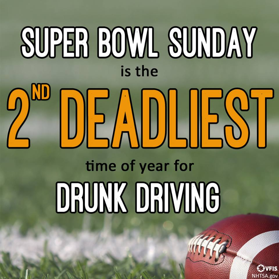 Be Safe on Super Bowl Sunday!